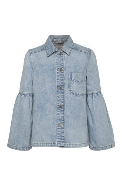 NORR Jakke Hannah Denim Medium Blue Denim