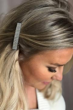 Bilde av Full Crystal Hair Clip Small LIGHT GREY *