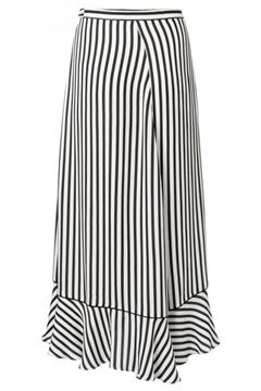 Bilde av Striped Wrap Skirt With Ruffle