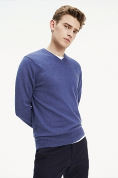 Bilde av Pima Cotton Cashmere V Neck