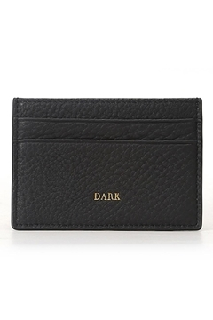Bilde av Leather Card Holder BLACK W/GOLD *