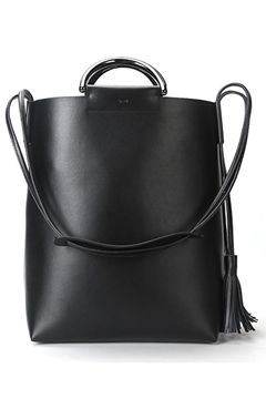 Bilde av Leather Tote Bag NAPPA BLACK W/GUN *