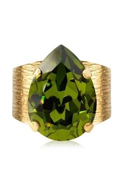 Bilde av Classic Drop Ring Gold OLIVINE *