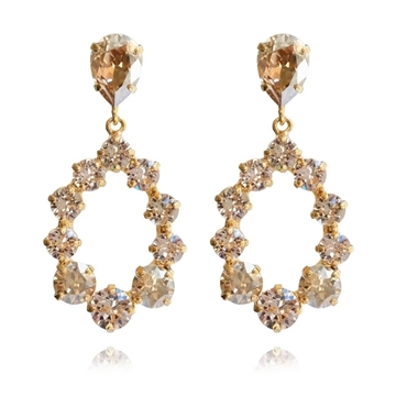 Bilde av Delia Earring Gold GOLDEN SHADOW/ SILK *