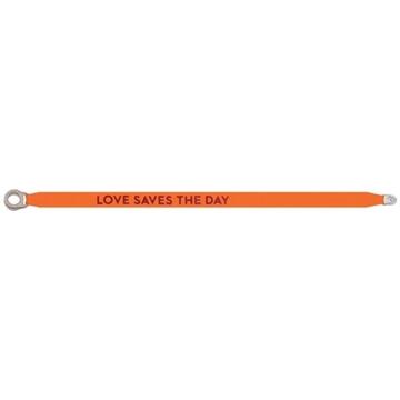 Bilde av Love Save The Day satin bracelet NEON ORANGE *