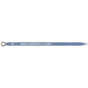 Bilde av Make Hapiness a Habbit satin bracelet BLUE *