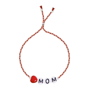 Bilde av Heart Mom Glass Letter SALMON RIBBON *
