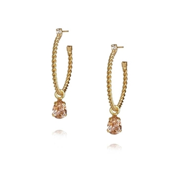 Bilde av Nani Earring Gold VINTAGE ROSE *
