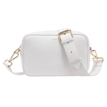 Bilde av LEATHER BOX BAG WHITE *