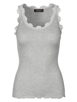 Bilde av SILK TOP REGULAR W/VINTAGE LACE