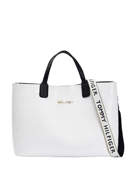 Bilde av Iconic Tommy Satchel Mono BRIGHT WHITE *