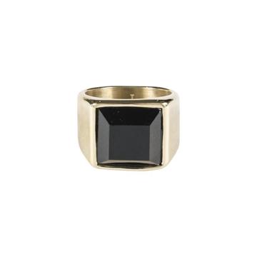 Bilde av Signet Ring W/Black Onyx str 2 GOLD *