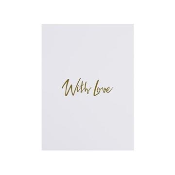 Bilde av Card With Love WHITE W/ GOLD *