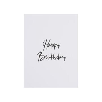 Bilde av Card Happy Birthday WHITE W/ GOLD *